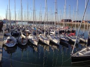Der Hafen von Helgoland