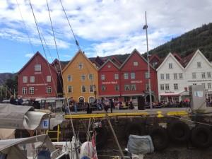 Tyske Bryggen in Bergen Norwegen