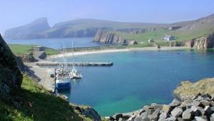 Der Hafen auf Fair Isle