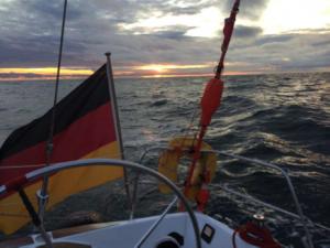 Sonnenuntergang auf dem Nordatlantik